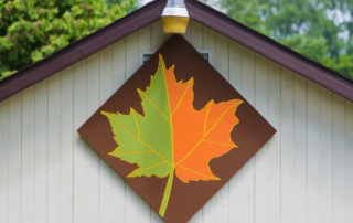 Leaf Barn Quilt