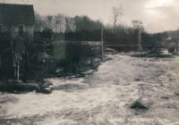 Old Gresham Bridge and River Scene